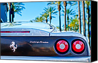 Challenge Canvas Prints - Ferrari Challenge Stradale Rear Emblem - Taillights Canvas Print by Jill Reger