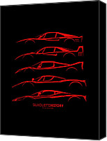 Ferrari Gto Canvas Prints - Ferrari Supercars Canvas Print by Gabor Vida