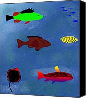 Kate Farrant Canvas Prints - Fish Canvas Print by Kate Farrant