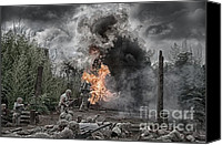 Ken Williams Canvas Prints - Flame of Victory Canvas Print by Ken Williams