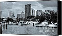 Black And White Photo Special Promotions - Florida Waterway Canvas Print by Pro Shutterblade