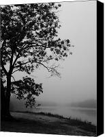 Leaves Special Promotions - Foggy Morning at Prospertown 2 b Canvas Print by Megan Brandl
