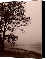 Lake Photo Special Promotions - Foggy Morning at Prospertown 2 c Canvas Print by Megan Brandl