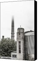 Stack Photo Special Promotions - Foggy Smoke Stack Canvas Print by Daniel Woodbury