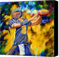 Lourry Legarde Canvas Prints - Football I Canvas Print by Lourry Legarde