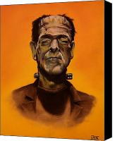 Evil Pastels Canvas Prints - Frankensteins Monster Canvas Print by Brent Andrew Doty
