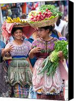 Bananas Canvas Prints - Fruit Sellers in Antigua Guatemala Canvas Print by David Smith