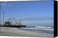Terry Deluco Canvas Prints - Funtown Pier Canvas Print by Terry DeLuco