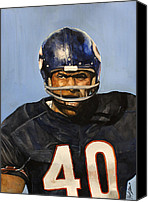 Signed Photo Canvas Prints - Gale Sayers Canvas Print by Michael  Pattison