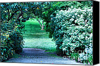 Cheryl Young Canvas Prints - Garden Entrance Canvas Print by Cheryl Young
