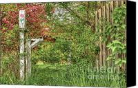 Brenda Giasson Canvas Prints - Garden Gate Canvas Print by Brenda Giasson