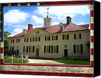 American Flag Special Promotions - George Washingtons Mount Vernon Canvas Print by Anthony Jones