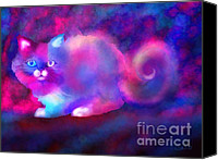 Nick Gustafson Canvas Prints - Ghost Cat 2 Canvas Print by Nick Gustafson