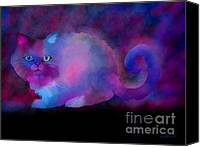 Nick Gustafson Canvas Prints - Ghost Cat Canvas Print by Nick Gustafson