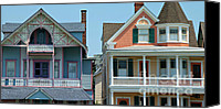 Painted Ladies Canvas Prints - Gingerbread Homes Pano - Ocean Grove NJ Canvas Print by Anna Lisa Yoder