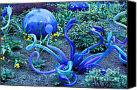Cheryl Young Canvas Prints - Glass Garden 5 Canvas Print by Cheryl Young
