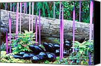 Cheryl Young Canvas Prints - Glass Garden 6 Canvas Print by Cheryl Young