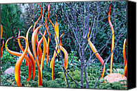 Cheryl Young Canvas Prints - Glass Garden 7 Canvas Print by Cheryl Young