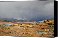 Dave Digital Art Canvas Prints - Glen Canyon Page AZ Canvas Print by Dave Gordon