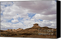 Dave Digital Art Canvas Prints - Glen Canyon Page AZ No. 2 Canvas Print by Dave Gordon
