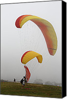 Beach Photograph Photo Canvas Prints - Glider Point In Mist Canvas Print by Viktor Savchenko