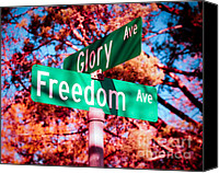 4th July Canvas Prints - Glory Signs Canvas Print by Sonja Quintero
