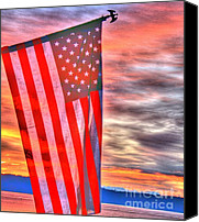 White Photo Special Promotions - God Bless America Canvas Print by Tap On Photo