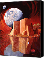 Taos Canvas Prints - God Is In The Moon Canvas Print by Art West