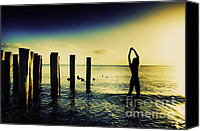 Sunset Prints Special Promotions - Good Morning Sunshine Woman Canvas Print by Amyn Nasser