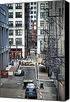 Alley Canvas Prints - Goodman Chicago Canvas Print by Scott Norris