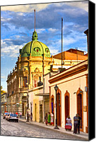 Mark Tisdale Canvas Prints - Gorgeous Streets Of Oaxaca Mexico Canvas Print by Mark E Tisdale