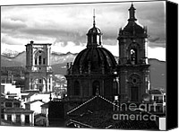 Cathedral Pyrography Canvas Prints - Granada Churches Canvas Print by Line Arion