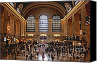Nyc Photo Canvas Prints - Grand Central Canvas Print by Andrew Paranavitana