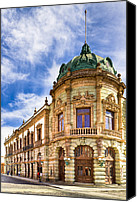 Mark Tisdale Canvas Prints - Grand Old Theater In The Heart Of Oaxaca Canvas Print by Mark E Tisdale