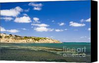 Tim Hester Canvas Prints - Granite Island South Australia Canvas Print by Tim Hester