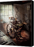 Mike Savad Canvas Prints - Graphic Artist - The humble printing press Canvas Print by Mike Savad