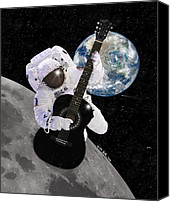 Star Man Canvas Prints - Ground Control to Major Tom Canvas Print by Nikki Marie Smith