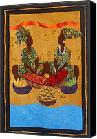 Office Decor Tapestries - Textiles Canvas Prints - Gumbo Ladies #2 Canvas Print by Aisha Lumumba