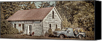 Door Canvas Prints - Gus Klenke Garage Canvas Print by Scott Norris
