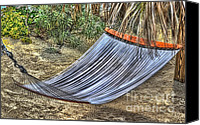 Arnie Goldstein Canvas Prints - Hammock Time Canvas Print by Arnie Goldstein