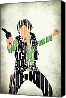 Ford Digital Art Canvas Prints - Han Solo from Star Wars Canvas Print by Ayse Toyran
