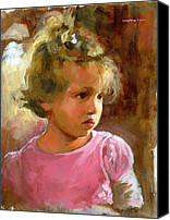 Innocence Canvas Prints - Hannah Canvas Print by Douglas Simonson