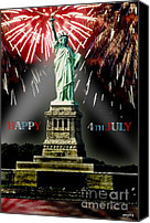 4th July Canvas Prints - Happy 4th July Canvas Print by Russ Murry