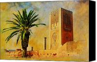 Formerly Canvas Prints - Hassan Tower Canvas Print by Catf