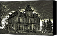 Ken Williams Canvas Prints - Haunted Mansion edit 2 Canvas Print by Ken Williams