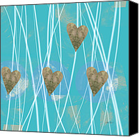 Ann Powell Canvas Prints - Heart Strings  abstract art  Canvas Print by Ann Powell