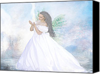 Embrace Pastels Canvas Prints - Heavenly Angel Canvas Print by Yvon -aka- Yanieck  Mariani