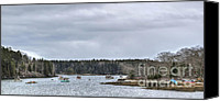 Brenda Giasson Canvas Prints - Hermit Island Harbor Canvas Print by Brenda Giasson