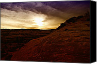 Southern Utah Canvas Prints - High Desert Clouds Canvas Print by Jeff  Swan