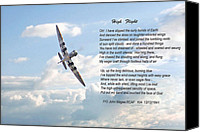 Raf Canvas Prints - High Flight Canvas Print by Pat Speirs